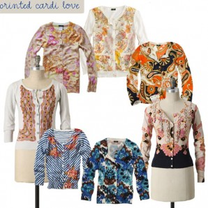 I heart printed cardigans