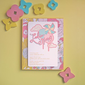 Pinwheel and Balloon Invitations