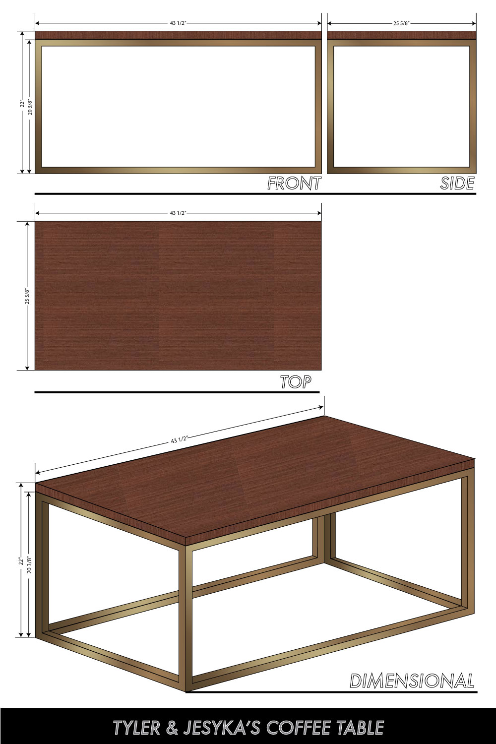 Coffee Table Dimensions Standard building our own coffee table | visual vocabularie