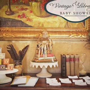 Event: Vintage Library Baby Shower