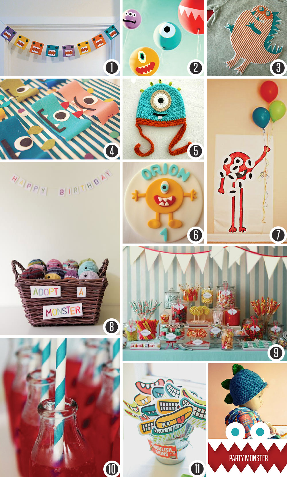 Party Monster a birthday board Visual Vocabularie