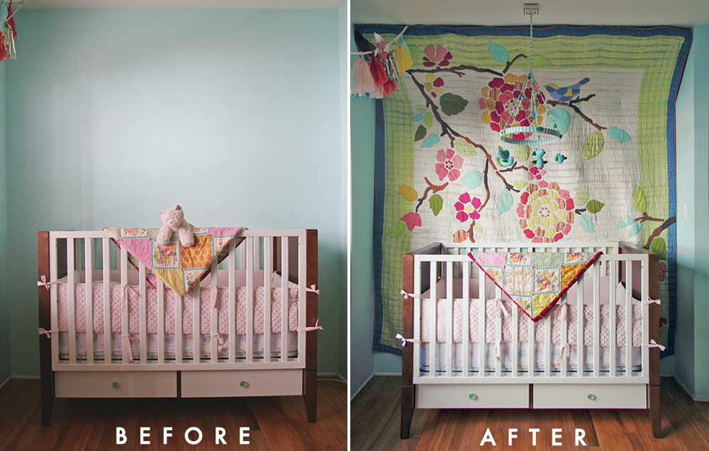 Hanging Quilt Before + After and How-to | Visual Vocabularie : hang a quilt on the wall - Adamdwight.com