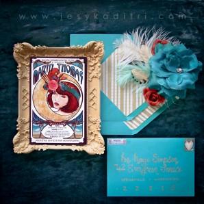 Marin's Mucha Inspired Invites