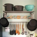 Easy DIY Ceramic Coaster Backsplash