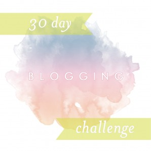 30 day blogging challenge and a tea box makeover