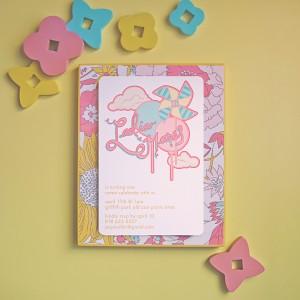 Pinwheel and Balloon Invitations