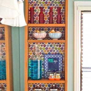 Backdrop for Bathroom Shelf