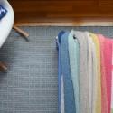 Striped Super Easy Knit Blanket